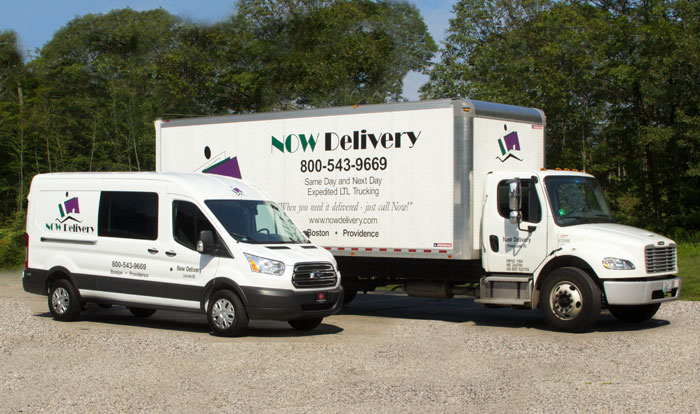 NOW Delivery offers a variety of trucks for courier and transportation